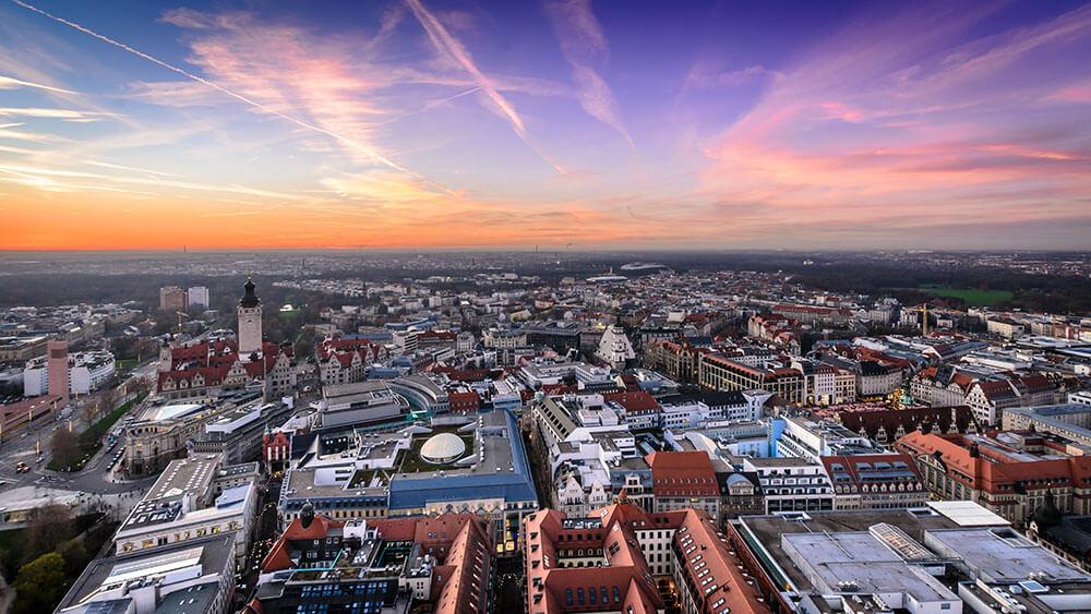 DIV - Deutsche Immobilienverwaltung - Fokusstadt Leipzig von oben