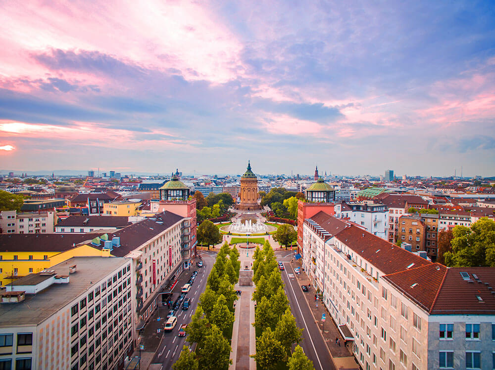 DIV - Deutsche Immobilienverwaltung - Fokusstadt Mannheim Luftbild Wasserturm