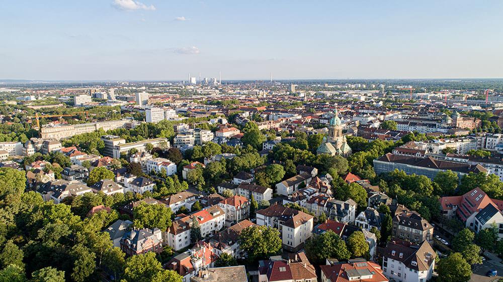 DIV - Deutsche Immobilienverwaltung - Fokusstadt Mannheim Luftbild